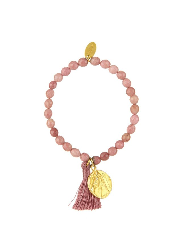Jigsaw Dusty Pink Dyed Jade Tassel Bracelet £29.00.jpg