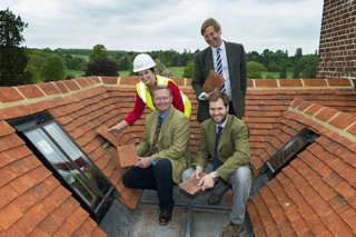 Roof topping ceremony Loseley.jpg