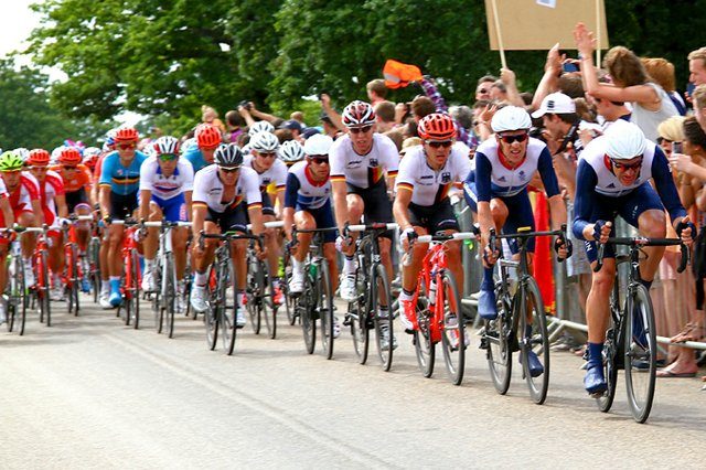 Olympic cycle race in Richmond Park