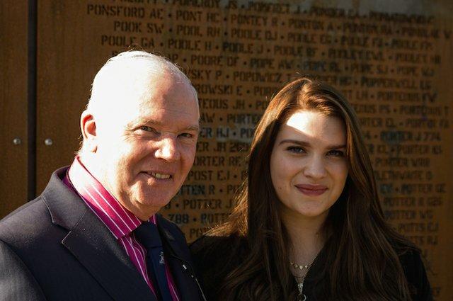 Jim Dooley with RAF singer Charlotte Mellor