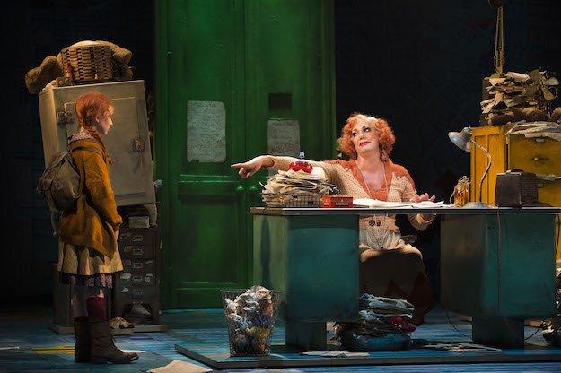HighresANNIE - Craig Revel Horwood as 'Miss Hannigan' and Sophia Pettit as 'Annie'. Photo credit Paul Coltas.jpg