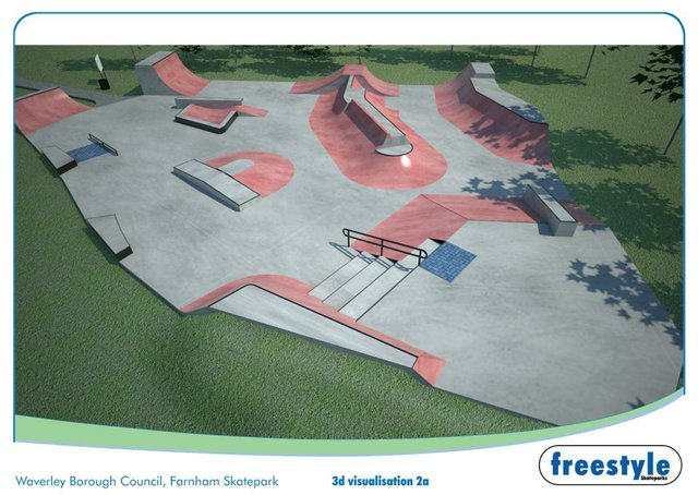 A 3D visualisation of what the park will look like when completed