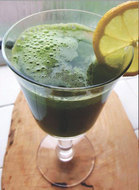 Green alkaline juice