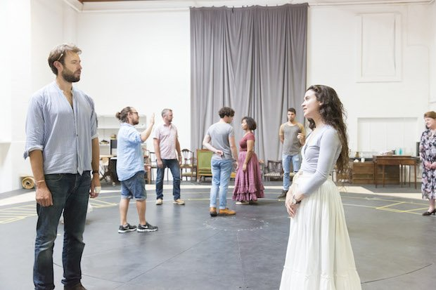 Benjamin Dilloway and Tafline Steen as Mr Darcy and Elizabeth Bennet. Photo Johan Persson copyweb.jpeg