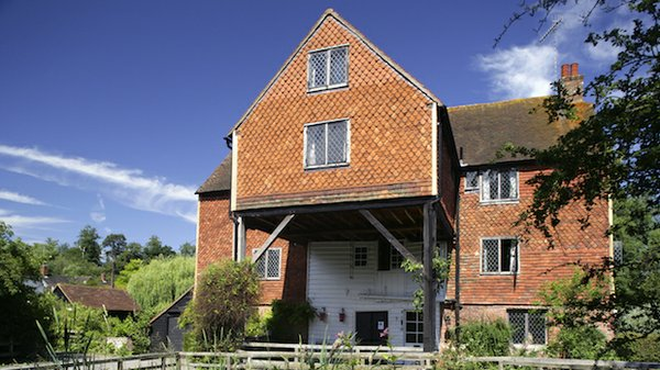 Shalford Mill on the Tillingbourne river, a tributary of the River Wey, Surrey