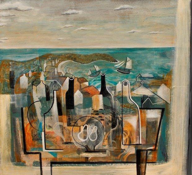1.Trevor Price, Coastal study. Painting on board.jpg