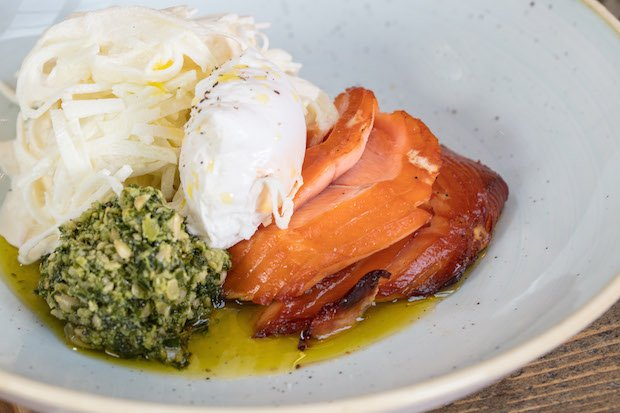 Hot smoked salmon, poached hens egg, kale pesto & kohlrabi remoulade copy.jpg