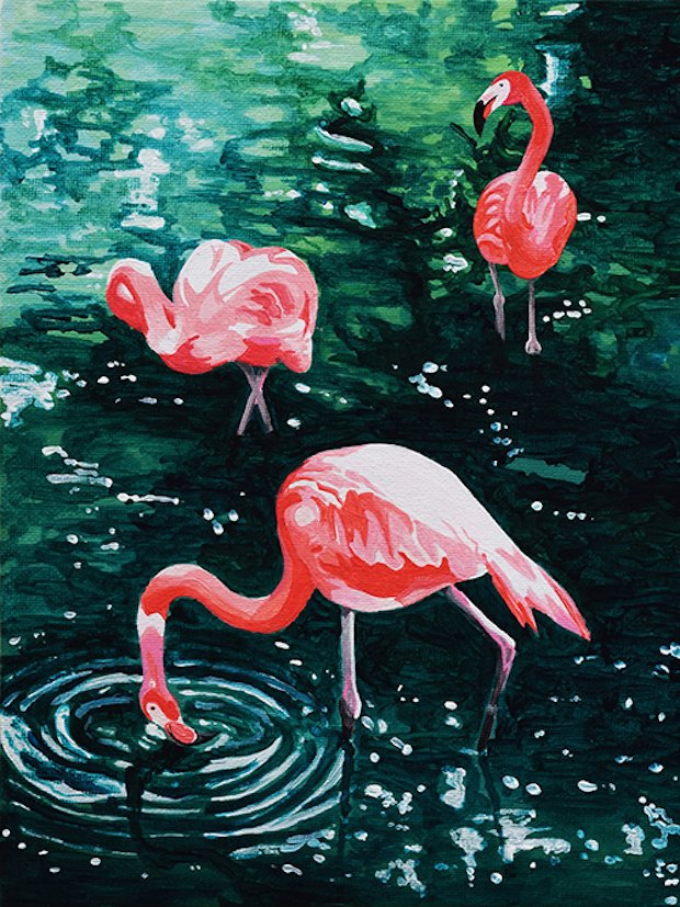 Florida Flamingos painting by Lucinda Watt.jpg