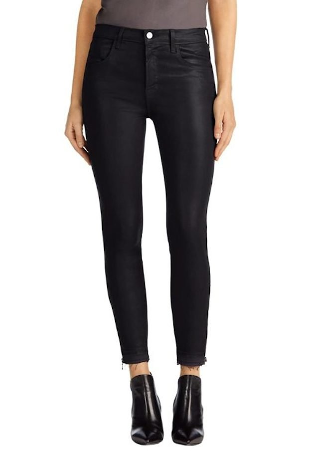 Alana High-Rise Coated Jeans