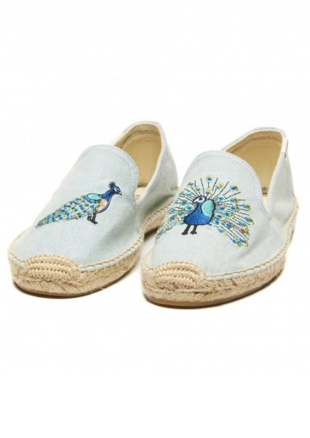 Peacock Embroidered Espadrilles