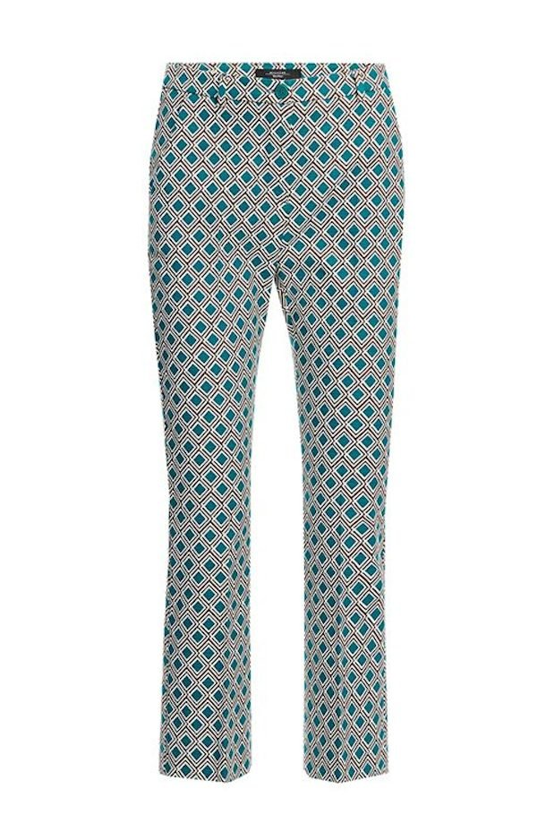 Weekend Stretch Jade Cotton Trousers