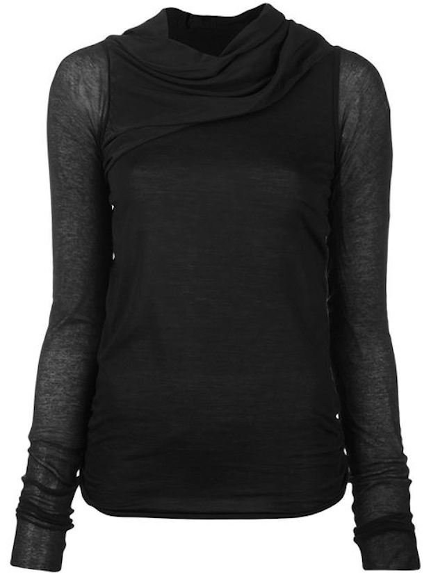 Lilies Silk Panel Draped Top