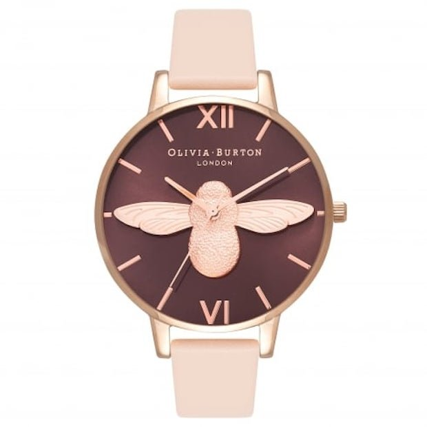 Peach & Rose Gold Bee Watch