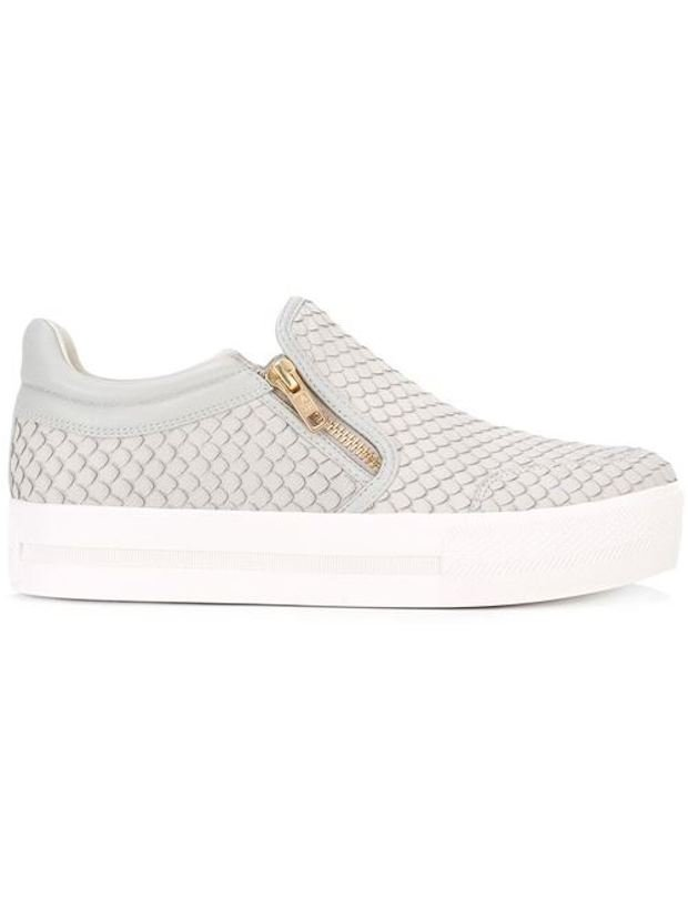 Jordy Python Effect Slip-On Trainers