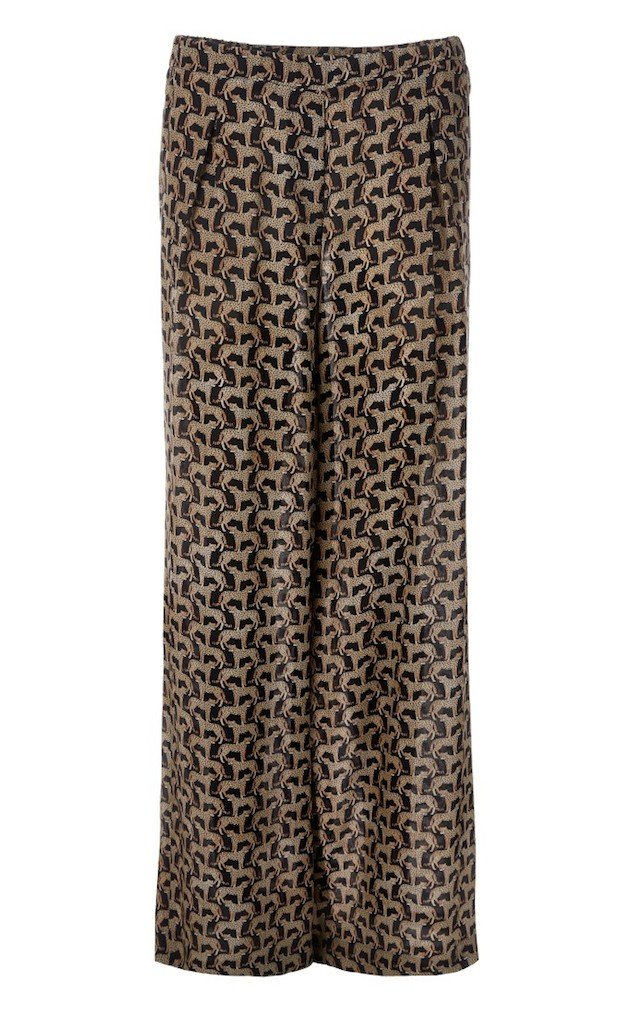 Silk Print Trousers